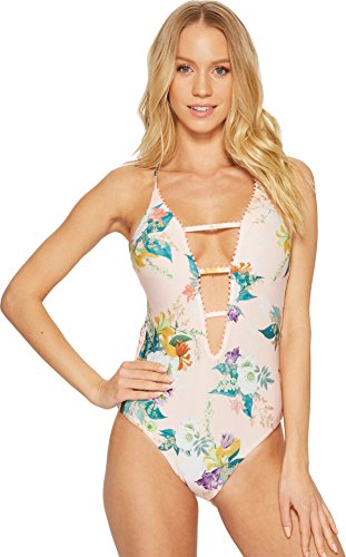 Isabella Rose Women's Blossoms One Piece Plunge Swimsuit Multi M by Isabella Rose