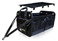 ADEON Folding Auto Trunk Organizer - Premium Cargo Storage,Best for Car,SUV,Truck,Van, - Waterproof Inner Lining & Foldable Lid - Multiple Pockets, Heavy-Duty Build & Secures Firmly in Position