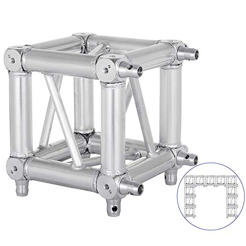 Mophorn Lighting Trussing 0.29M 0.95 FT /11.4 In Square Aluminum Box Lighting Trussing 6-Way Connection Fits Global Truss F34 (11.42″x11.42″x11.42″)