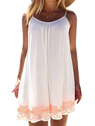 Neu Damen Strandkleid Minikleid Oberteile Sexy ärmellos rückenfrei Sling  Blumen bedruckt Neckholder Cover Up Frauen Sommerkleid cad8681f44