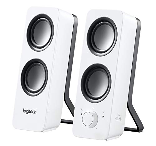 Logitech Multimedia Speakers Z200 with Stereo Sound for Multiple Devices, White (Logitech Z130 Stereo Speakers)
