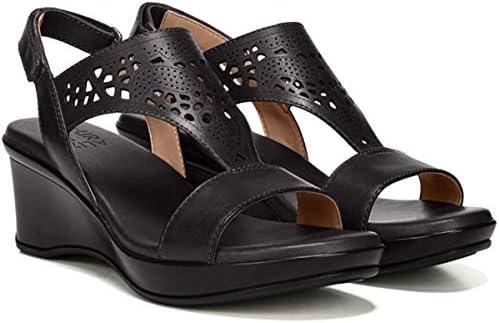 Naturalizer Women's Veda Wedge Sandal Black Size: 6 N US