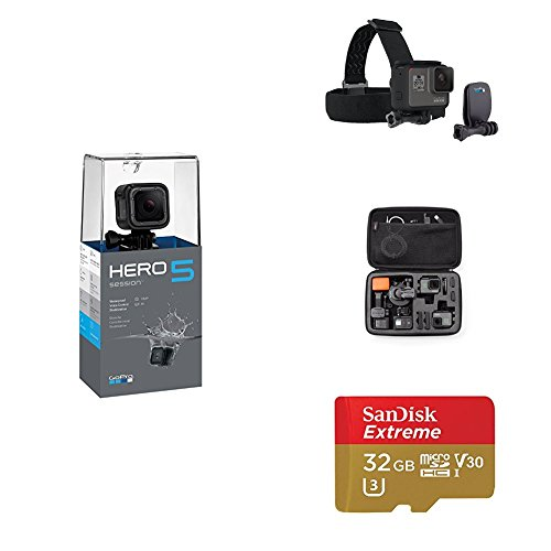 GoPro HERO5 Session w/ Head Strap, Carrying Case and Memory Card by GoPro
