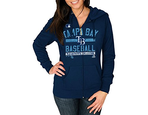 Tampa Bay Rays Majestic Navy Team Property Full Zip Fleece Hoodie (Womens XL)