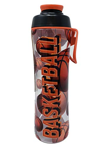 50 Strong 24 oz Sports Water Bottle with Basketball, Football, Baseball, Soccer, Tennis and Hockey Designs - Perfect Bottles for Boys, Girls, Sport Team, Players, and Coaches - Made in USA