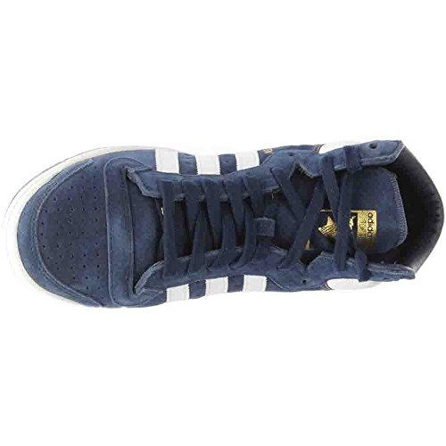 Adidas Originali Mens Top Ten Hi Scarpe Da Basket Collegiate Navy / Bianco / Blu Scuro