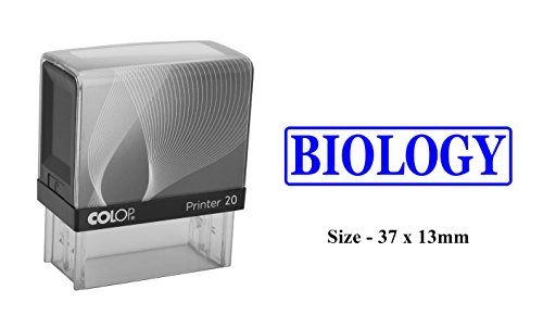 BIOLOGY Colop Self-Inking Plastic Stamp Clear Print For Office Use Stamp ()