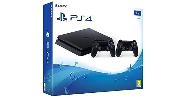 PlayStation 4 Slim (PS4) 1TB - Consola + 2 DualShock: Amazon.es ...