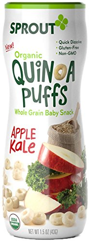 Sprout Organic Quinoa Puffs Baby Snack - Apple Kale - 1.5 oz - 6 pk