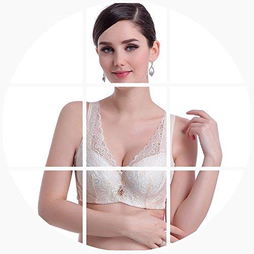 LXYFC-La primavera y el verano de sujetador tamaño delgado acérquense Furu significativamente pequeña ropa interior, Bra,El color de la piel,36d = 80D