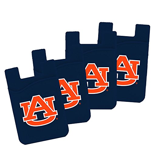 (Guard Dog Card Keeper/Card Holder Silicone Phone Wallet (4 Pack) (Auburn Tigers))