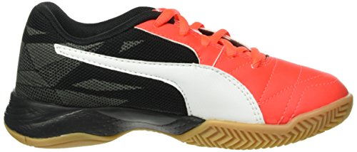 Puma Veloz Indoor Iii Jr - Zapatillas Unisex Niños Rojo - Rot (Red blast-White-Black 01)
