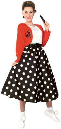 Rubie's Costume Fabulous 50's Polka Dot Sock Hop Girl, Multicolored, One Size (Sock Hop Dress)