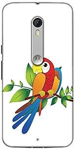 Snoogg Parrot On Branch Illustration Designer Protective Back Case Cover For ...