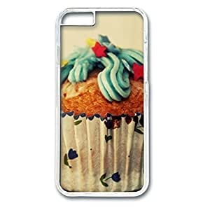 Custom Case with choco cupcake Personalized Back Snap On Case for iPhone 6 4.7 PC Transparent