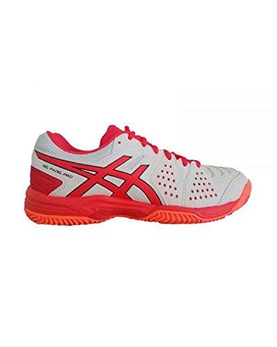 ASICS Gel Padel Pro 3 SG Mujer Blanco Rojo E561Y 0119: Amazon.es ...