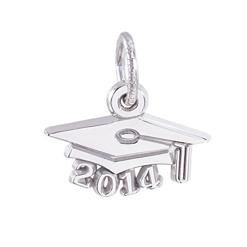 Rembrandt Charms, 2014 Graduation Cap, Small, .925 Sterling Silver, Engravable