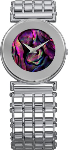 Jowissa Women's J3.003.M Elegance Purple Mother-Of-Pearl Stainless Steel Watch