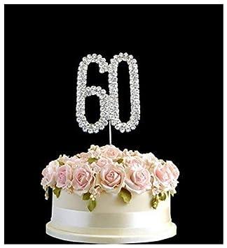 Tortenaufsatz Diamantenzahlen f/ür Hochzeit Geburtstag Jahrestag
