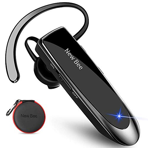 New bee Bluetooth Headset V5.0 Handsfree Bluetooth Earpiece with 24h talking time and More 60 Days S