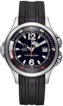 Hamilton Men's H77555335 Khaki Navy Black Dial Watch