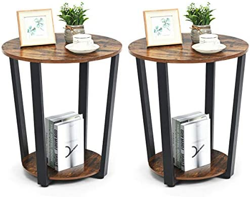 Tangkula Round End Table