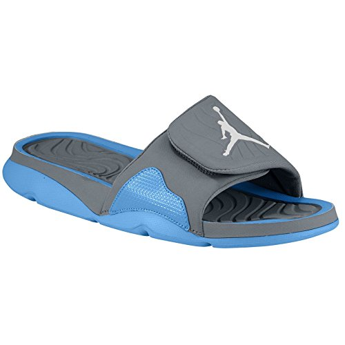 27f2b9c3b76 Mens Air Jordan Hydro 4 Slide Sandal Cool Grey White University Blue 705163-006  US 8 - Buy Online in Oman. | Apparel Products in Oman - See Prices, ...