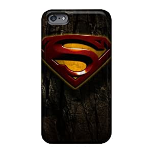 Shock Absorbent Cell-phone Hard Cover For Apple Iphone 6 (DRK19469xqWw) Custom Trendy Superman Image