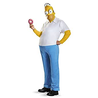 Disguise Men's Homer Deluxe Adult Costume, Multi, X-Large