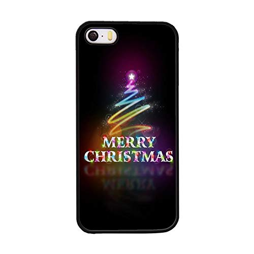 FIDIKO Merry Christmas Tree Cute Girls Rear case Compatible iPhone 5s se, Cool Hard Plastic Tough | Snap On Hard Back Compatible iPhone 5 5s se]()