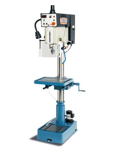 "Baileigh DP-1000VS Variable Speed Drill Press, 1-Phase 220V, 2hp Motor, 1"" Capacity"