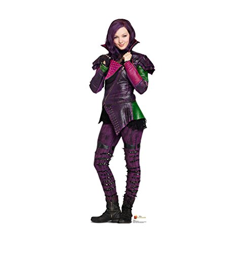 Mal - Disney's Descendants (2015) - Advanced Graphics Life Size Cardboard (Disney Villains Halloween Decorations)