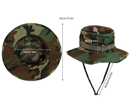 Drawihi Outdoor pesca cappello anti-UV leggero resta fermo e molto confortevole da indossare verde scuro