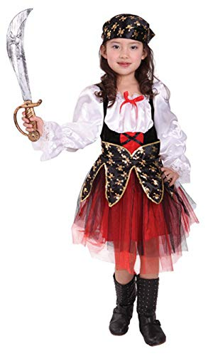 (stylesilove Adorable Little Girls Halloween Costume Party Cosplay Dress (L/7-9 Years, Caribbean Pirate)