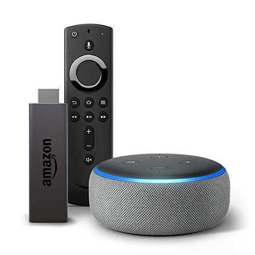 Fire TV Stick bundle with Echo Dot (3rd Gen) - Heather Gray