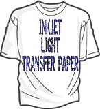 "IRON ON HEAT TRANSFER PAPER 8.5 X 11"" CUSTOM PACK"