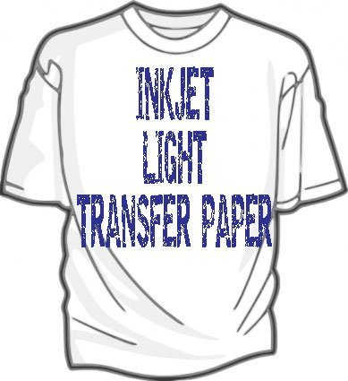 IRON ON HEAT TRANSFER PAPER 8.5 X 11 CUSTOM PACK 100 SHEETS