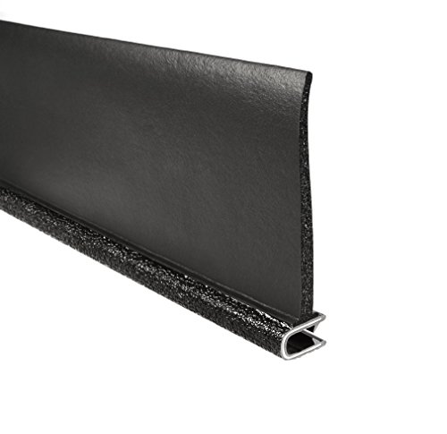 Trim-Lok 7B350B2X1/4A-100 EPDM Closed Cell Sponge Rubber/PVC/Aluminum Flap Seal, 3'' Side Flap, Fits Edge 1/4'', 100' Length by Trim-lok