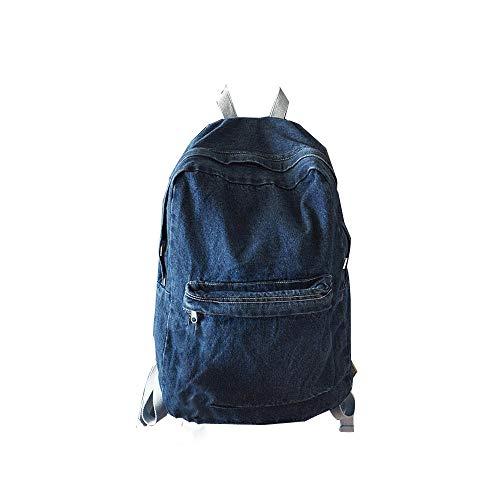 Gillberry Unisex Denim Travel Backpack Bag School bag Rucksack Casual Retro Bag (Dark Blue)