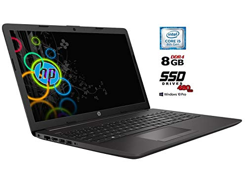 Hp 250 g7 Notebook Intel core i5 8265U 8Gen, 4 Core fino a 3,9 GHz, 8Gb Ddr4, SSD 480 Gb, Display 15.6″ HD, Wi-Fi, Bt, Win 10 Pro 64, Office Pro 2019, Pronto all'uso, Gar. Italia