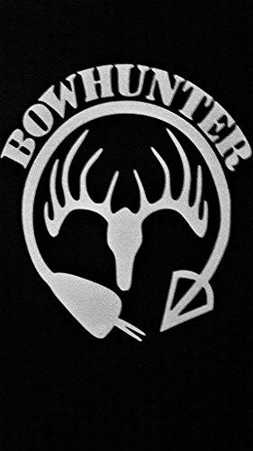 Chase Grace Studio Bow Hunting Bow Hunter Elk Deer Hunting Vinyl Decal Sticker|WHITE|Cars Trucks Vans SUV Laptops Wall Art|5.5