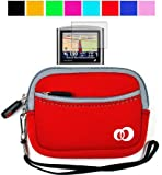Neoprene GPS Carrying Case for Garmin Nuvi 255w 850 780 265wt Garmin Nuvi 755 765t 885 43 Inch GPS + Screen Protector (Red), Best Gadgets