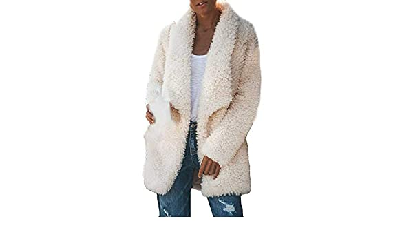 Mujer Caliente Esponjoso Tops Chaqueta Suéter Abrigo Jersey Otoño ...