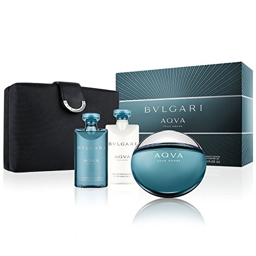 Aqva Pour Homme Mens Fragrance - Bvlgari Aqua 4 Piece Gift Set