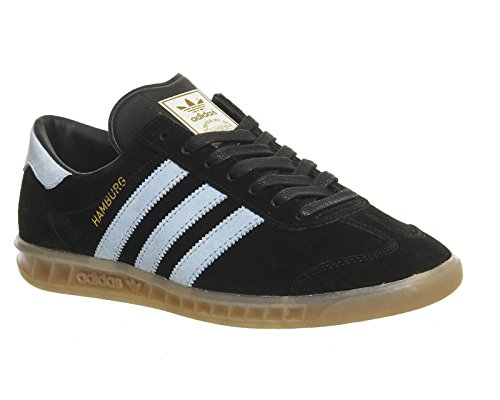 adidas Men's Hamburg Trainers, Grey Black Blue Bird Gum