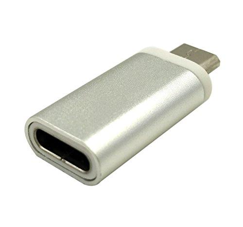 maxhood USB 3.1Typ C Adapter, 1Pack usb-c Buchse auf Micro-USB-Stecker laden & Sync Daten Konverter Adapter Stecker Typ C Gerät auf Micro USB Gerät (usb-c FM/MicroUSB M)
