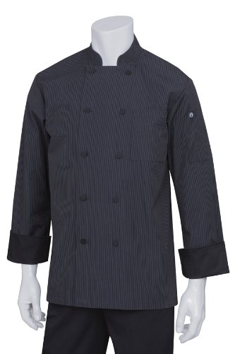 Chef Works Men's Executive Fine Stripe Chef Coat (BC006) by Chef Works