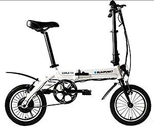 Blaupunkt Carla 180–16Pulgadas Plegable Pedelec, E-Bike, Bicicleta eléctrica–13,8kg, 250W