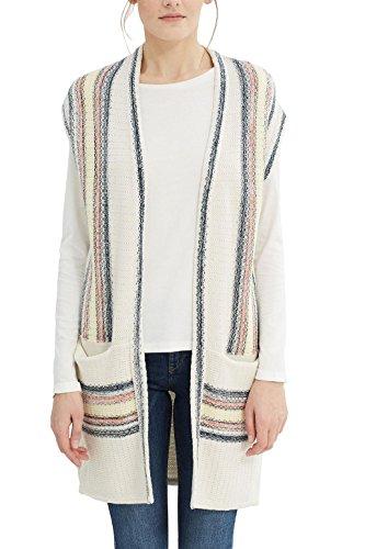 ESPRIT 027ee1i012, Chaqueta para Mujer Multicolor (Off White)