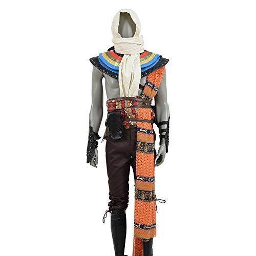 TISEA Men's Brotherhood Hot Game Assassin's Series Cosplay Costume (M, Medjay Bayek)